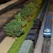Croisement de deux trains